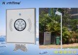 12W impermeabilizan la luz de calle del panel solar del control ligero automático LED