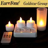 Conjunto de 4 cores recarregáveis LED Candle Multi com Controle Remoto