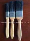 Cepillo de pintura afilado del filamento con la maneta de madera de la buena calidad
