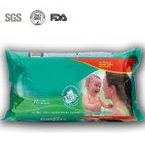 Les essuie-main 100% humides de coton personnalisent des chiffons de bébé de logo