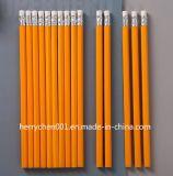 Crayon en bois d'HB de 7 pouces avec l'extrémité de gomme à effacer (SKY-012B)