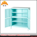 Metal 2 Shelves 4 Door Cabinet