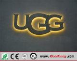 Sinais de letras de metal iluminado LED