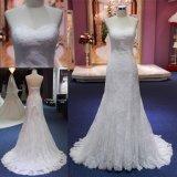 Vestido nupcial Mat-109 do vestido de casamento do baile de finalistas da sereia do laço do querido