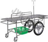 Edelstahl Stretcher Trolley mit Big Castors