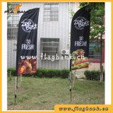 Bandeira personalizada ao ar livre da pena do poliéster/bandeira de praia