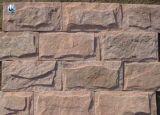 自然な石造りのきのこの壁のタイル