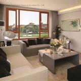 Водоустойчивое & звукоизоляционное алюминиевое окно Casement для виллы & дома, с декоративной