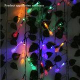 Birnen-Kugel-Laterne-Lampen-Licht der beste Verkauf Multicolorful Bodenwand-Solarzeichenkette-Streifen-Dekoration-LED