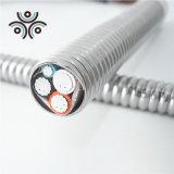 UL4 Conducteur en cuivre solide Standard en PVC/isolation en nylon avec un bond en alliage aluminium fil câble blindé de bandes en acier galvanisé