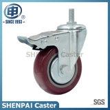 "Do "" roda industrial rígida do rodízio poliuretano 3"