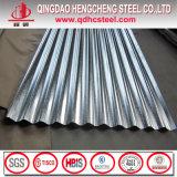 Tuile de toit ondulée en acier galvanisée par Z275 de zinc de JIS G3302
