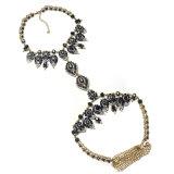 Juwelen van de Ketting van het Lichaam van de Bloem van het Kristal van Rhinstone van het Ontwerp van Wholesales 2017 van de Vrouwen van de manier de Nieuwe Volledige voor Vrouwen