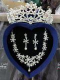 Комплекты ожерелья 3 кроны серьги способа для Bridal венчания