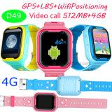 4G/WiFi scherzt Sicherheit GPS-Verfolger-Uhr mit Videocall und Whatsapp