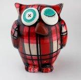 Regalos de promoción creativa de cerámica decorativa del búho hucha