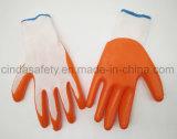 Труда защитные нитриловые перчатки с покрытием
