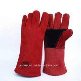 Коровы Split кожа жаропрочные перчатки для сварки сварщиков