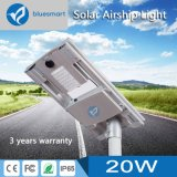Outdoor 20W solarly LED guards Street Light with solarly panel
