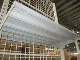 Wire Mesh Back Metal Steel Gondola Supermercado Display Shelf Rack