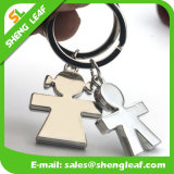 Wholesale Factory Factory Metal Key Ring com logotipo especial (SLF-MK016)
