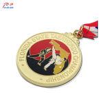 Personalizar la forma de Santa Claus de alta calidad de la medalla de metal para Navidad