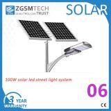 LED de 100W Piscina Solar Luz de rua com marcação UL RoHS