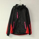 Costura preto/vermelho à prova com fita de poliéster almofadado Pongées Jaqueta com para Adulto