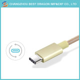 Оптовая торговля универсальный 3 в 1 нейлоновые экранирующая оплетка кабеля USB кабель типа C зарядки данных