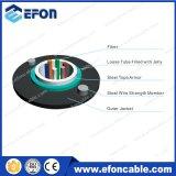 Fil en acier 2 6 24 24 Cores Câble monomode Fibra Optica Telecommunicacion