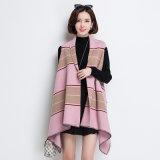 Veste de chemisier en nylon à vis rayé à la mode féminine (YKY4525)