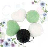 100% 자연적인 Heart Shape Konjac Sponge 또는 Facial Cleaning Sponge