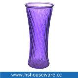 H 30cm 자주색 색깔 유리 화병
