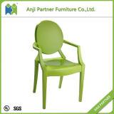 純粋な十分に白いポリカーボネートのプラスチック食事の椅子(Melor)