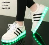 La última luz LED del flash del estudiante calza los zapatos luminosos del LED (FF326-8)