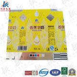 紙ベースの薄板にされた材料ミルクおよびジュースの無菌包装のために使用する