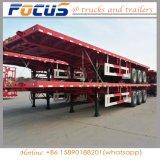 三車軸40FT長い手段、平面トレーラー、容器のトレーラー、半トレーラー