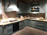 Eleganter moderner Küche-Schrank des festen Holz-2018