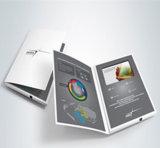 brochure 5inch visuelle pour la publicité de vente