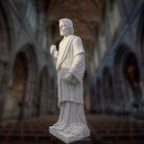 Fromme Statue-Marmorierungskulptur T-6820