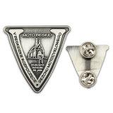 L'étiquette en métal argenté antique honneur insigne de police de lumière d'impression laser