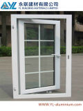 Grand profil en aluminium en verre de ventes chaudes pour le guichet de gril de tissu pour rideaux