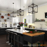 Лак вибрационное сито оптовой модульные деревянные кухонные шкафы с острова (OP15-L14)