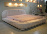 Moderne Hauptmöbel des ledernen Bett-A027