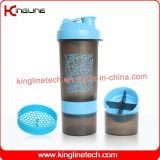 battomフィルター上の2コンテナと600ミリリットルプラスチックプロテインシェーカーボトル( KL- 7004 )