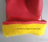 Длинные манжеты с покрытием из ПВХ зимние рабочие перчатки