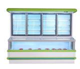 Multideckの商業直立した開いた野菜スリラー