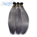 Волосы Remy нового цвета серебра звезды прямые бразильские