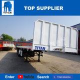 Титан 4 осей 40 ФУТОВ Flat-Bed высокого прицепа кровать прицепа