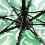 Neuer Feld-Zoll druckte Blumen-den UV3 Falten-Regenschirm (FU-3821C)